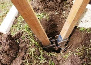 Digging Holes with Post Hole Digger
